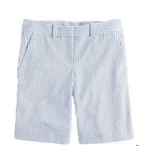 Women's jcrew seersucker shorts - size 4